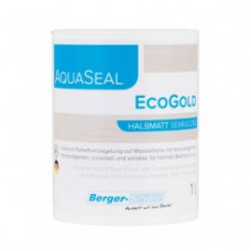Однокомпонентный акрилово-полиуретановый лак на водной основе Berger Aqua-Seal EcoGold 1 л.