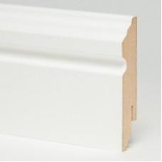 Плинтус МДФ Teckwood (Теквуд) Белый фигурный (высота 80 мм)